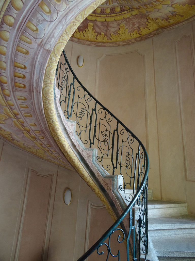 Stift Melk - Treppe zwischen Bibliothek und Kirche