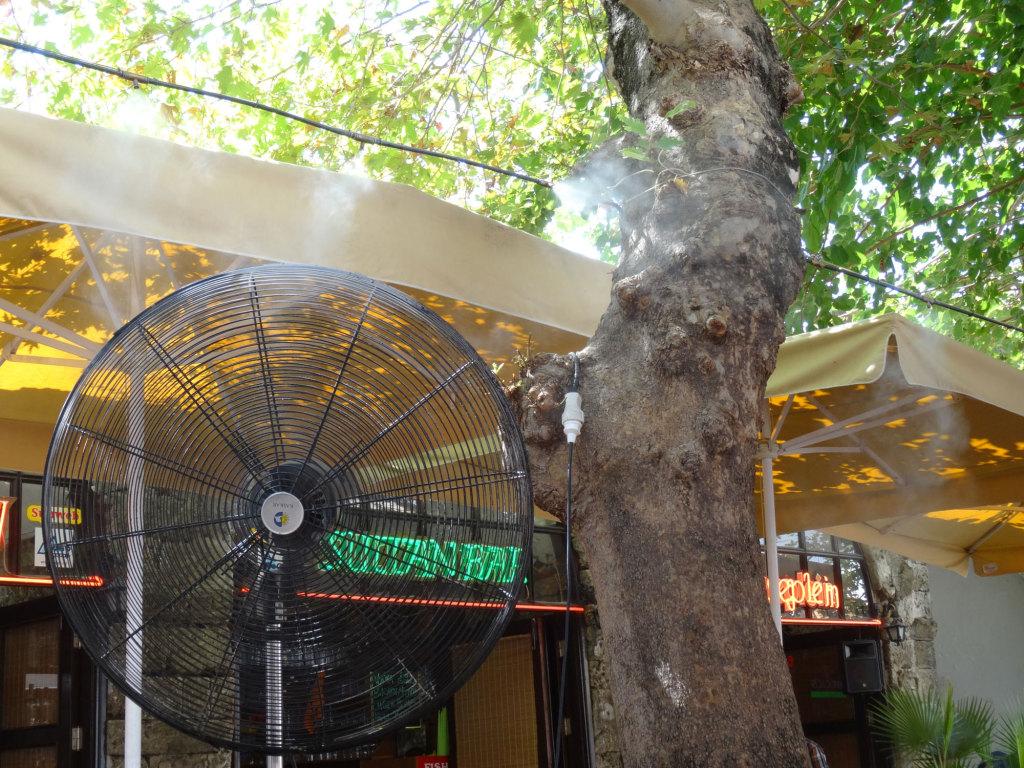 Marmaris - Kühlsystem im Restaurant Leidseplein