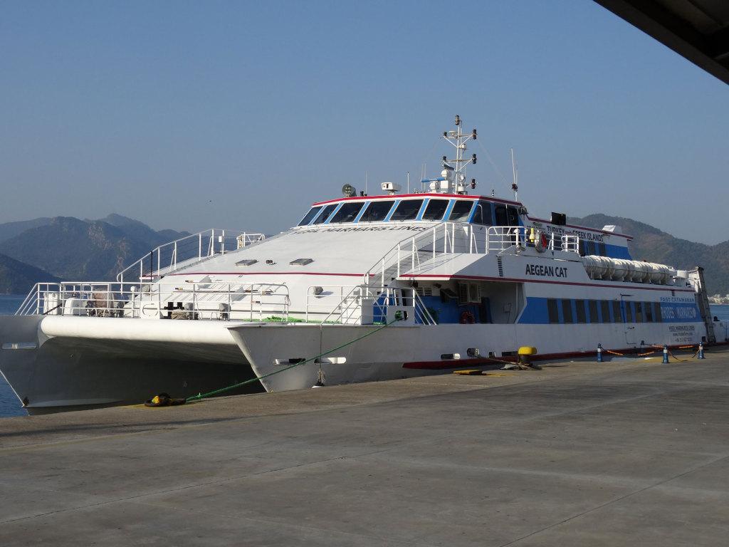 Die Aegean Cat im Hafen von Marmaris