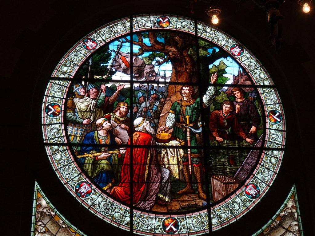 Quedlinburg - Im Rathaussaal, die Überreichung der Königskrone an den späteren Heinrich I.