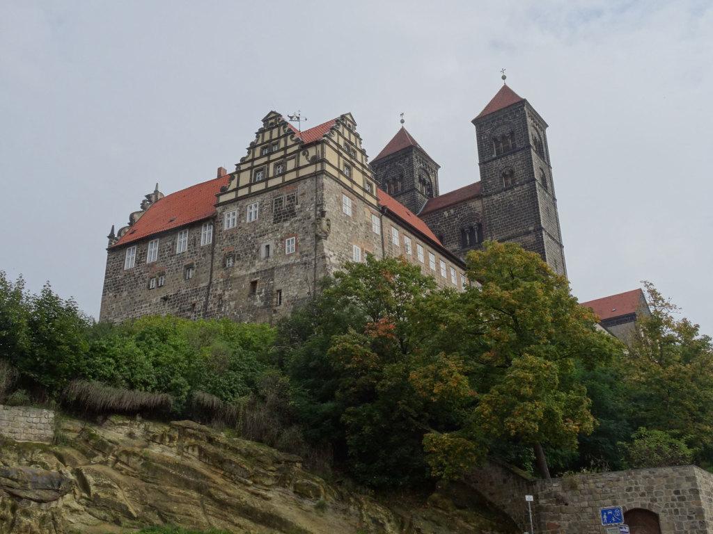 Quedlinburg - Der Schlossberg mit den Türmen der Stiftskirche