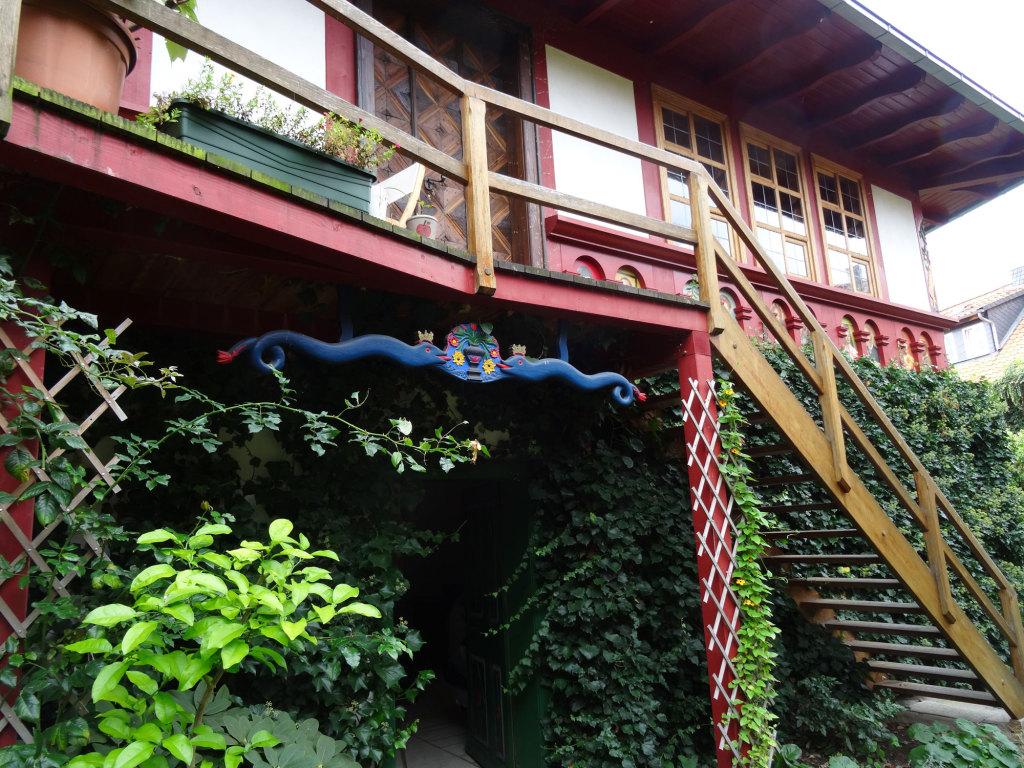 Wernigerode - Im Hinterhof von Jüttners Buchhandlung