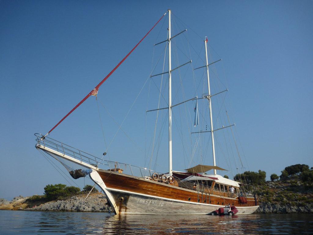 Unser Schiff, die Tersane 10, 35 Meter lang, 8 Meter breit