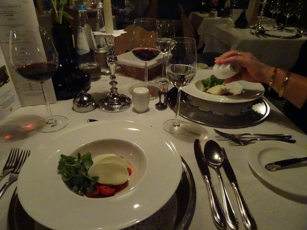 Abendessen im Alpin Royal - die Vorspeise