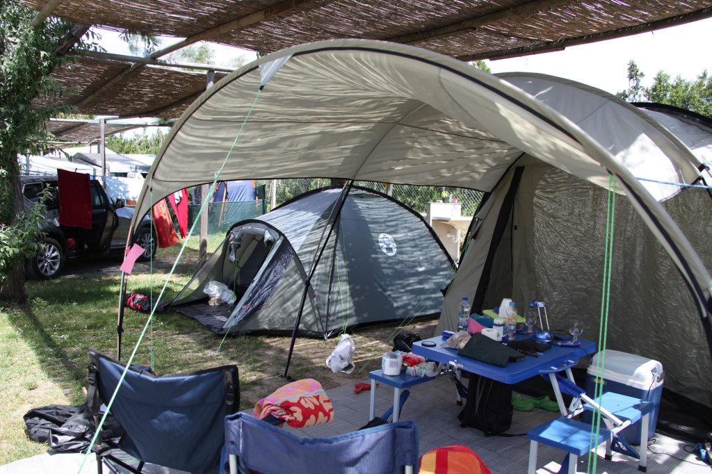 Unsere kleine Zelt-Familie