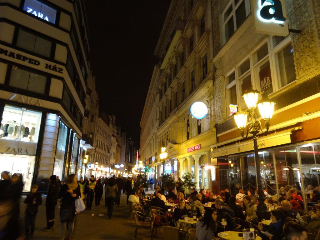Fußgängerzone vaci utca