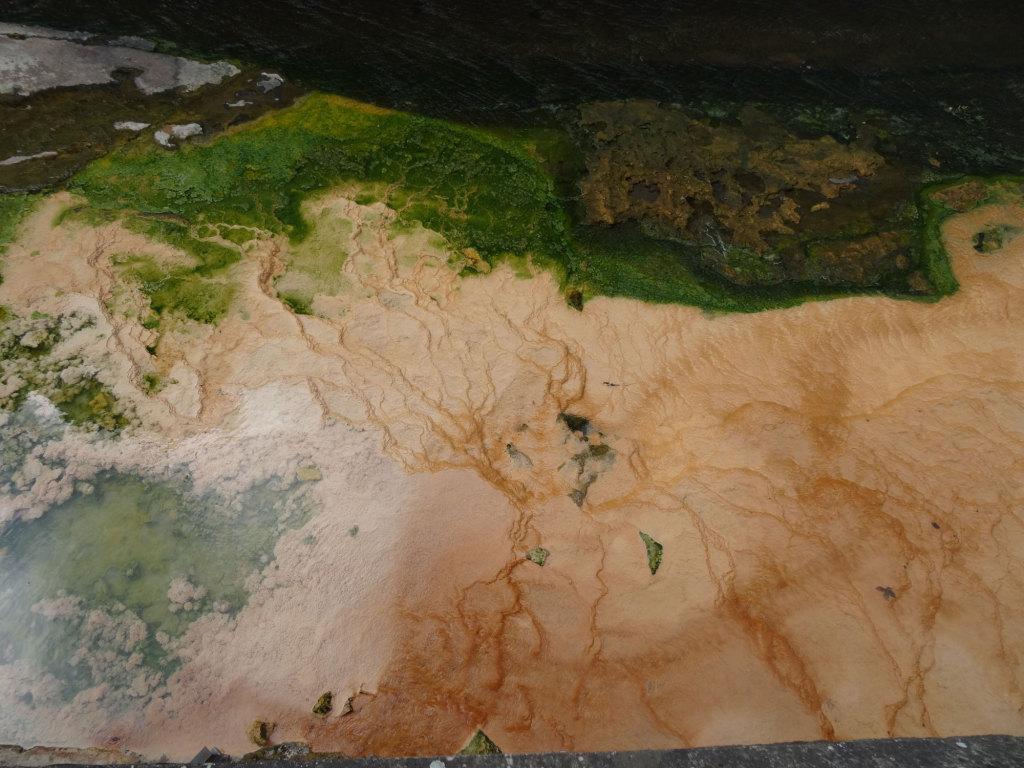 Mineralische Ablagerungen aus Quelle