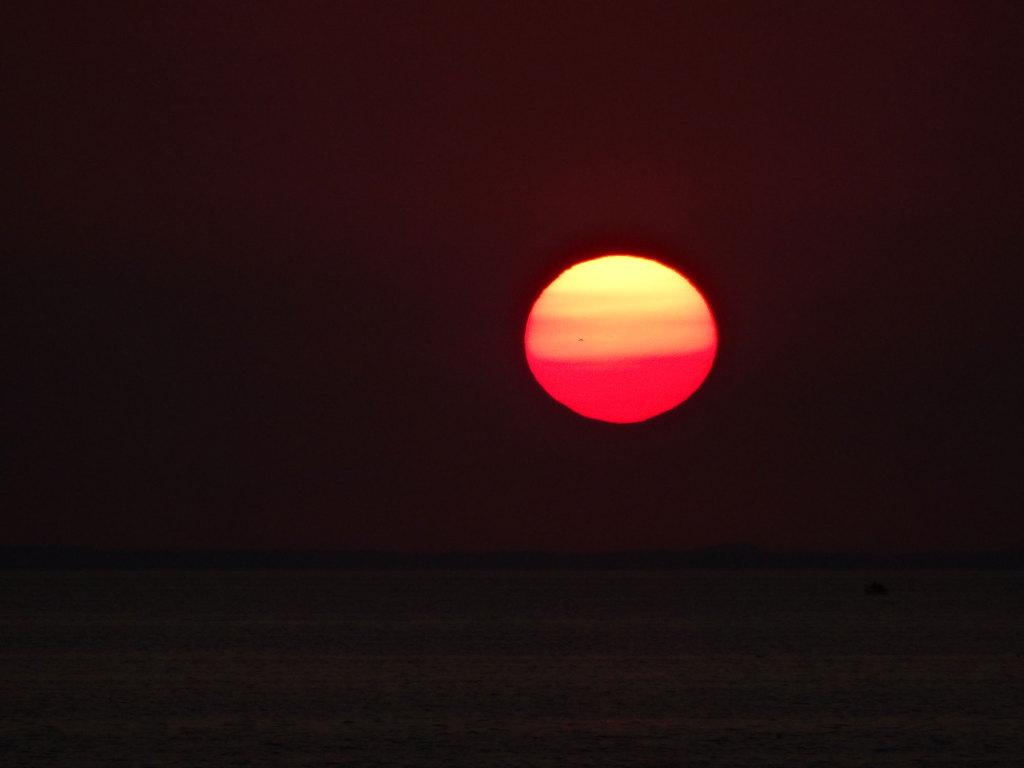 Außerirdischer Sonnenuntergang über dem Öresund
