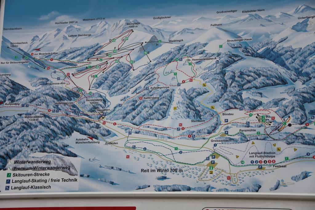 Winterpanorama Reit im Winkl