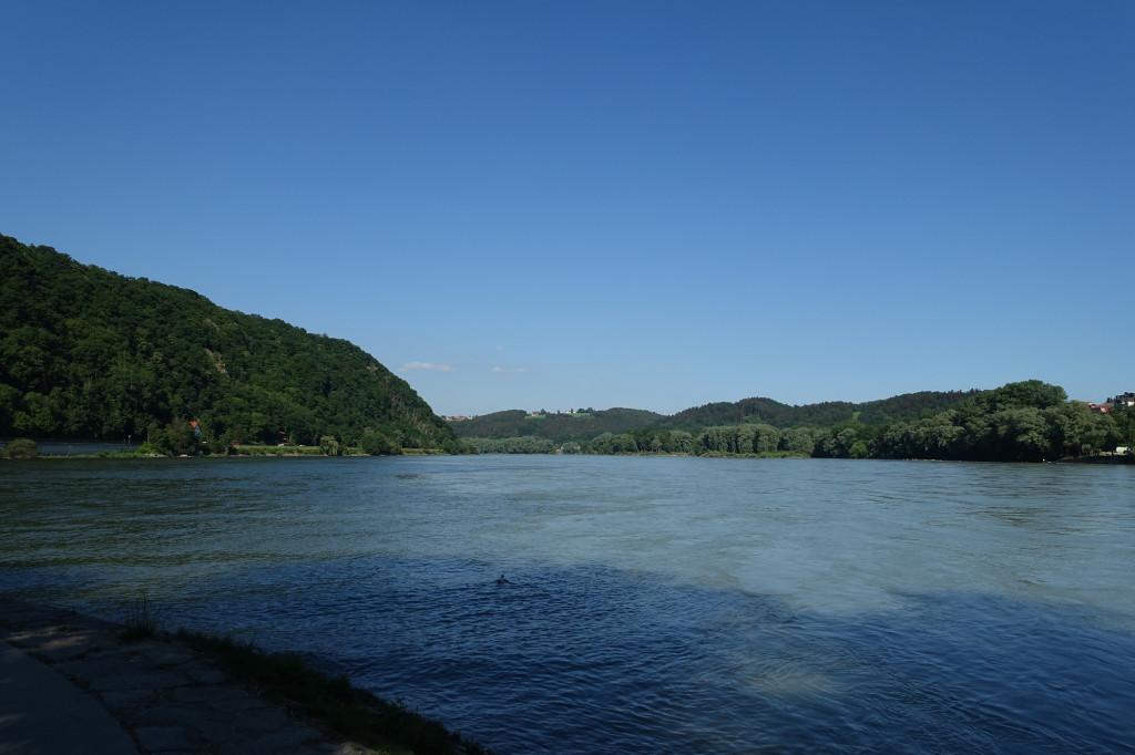 Am Zusammenfluss von Donau und Inn