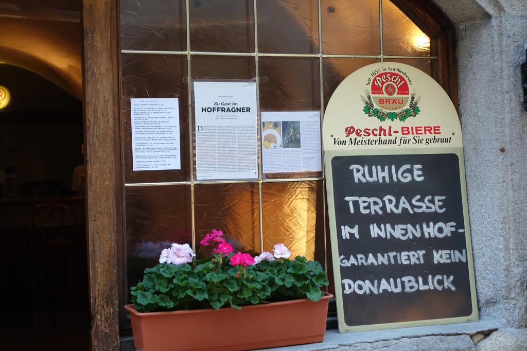 Endlich mal ein Restaurant ohne Donaublick