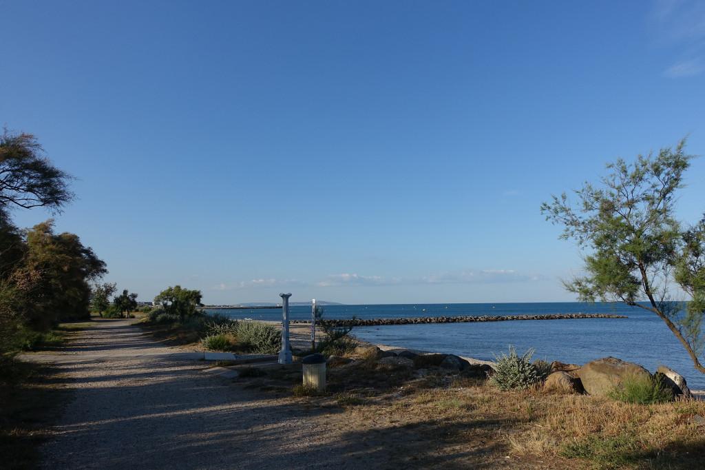 Küste vor dem Campingplatz La Clape