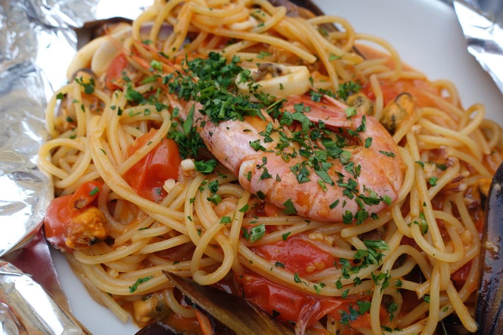 Restaurant Vaticano - meine Spaghetti mit Meeresfrüchten