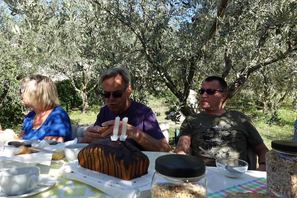 Frühstück im Olivenhain