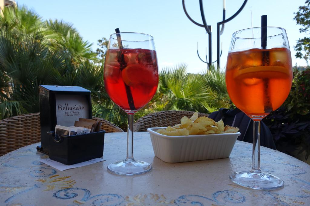 Spritz - mit Campari und mit Aperol