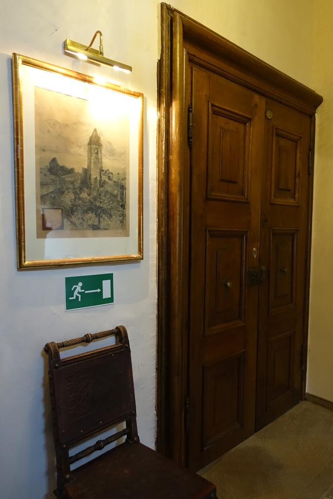 Schloss Dürnstein - die Tür zu unserem Zimmer