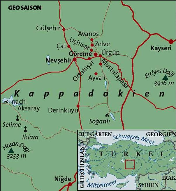 Wo liegt Kappadokien