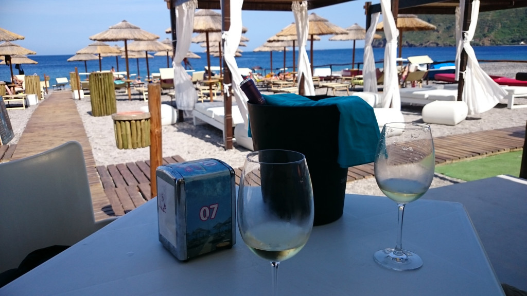 Lipari - Strandbar in Canneto