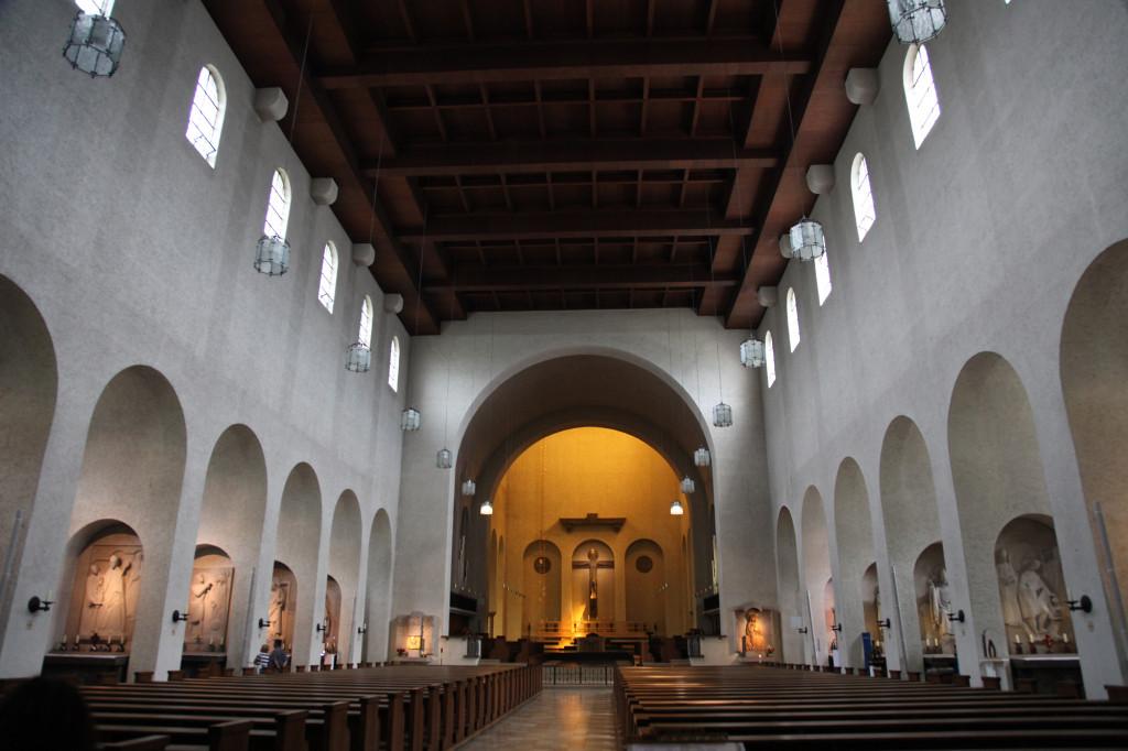 In der Kirche der Abtei Münsterschwarzach