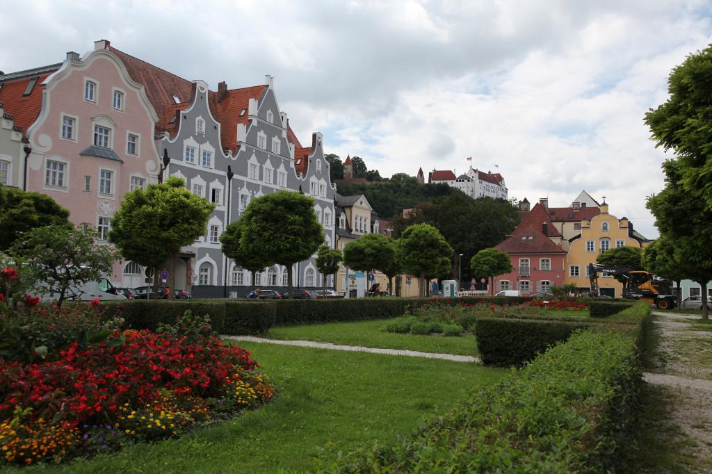 Landshut - Blick auf Burg Trausnitz