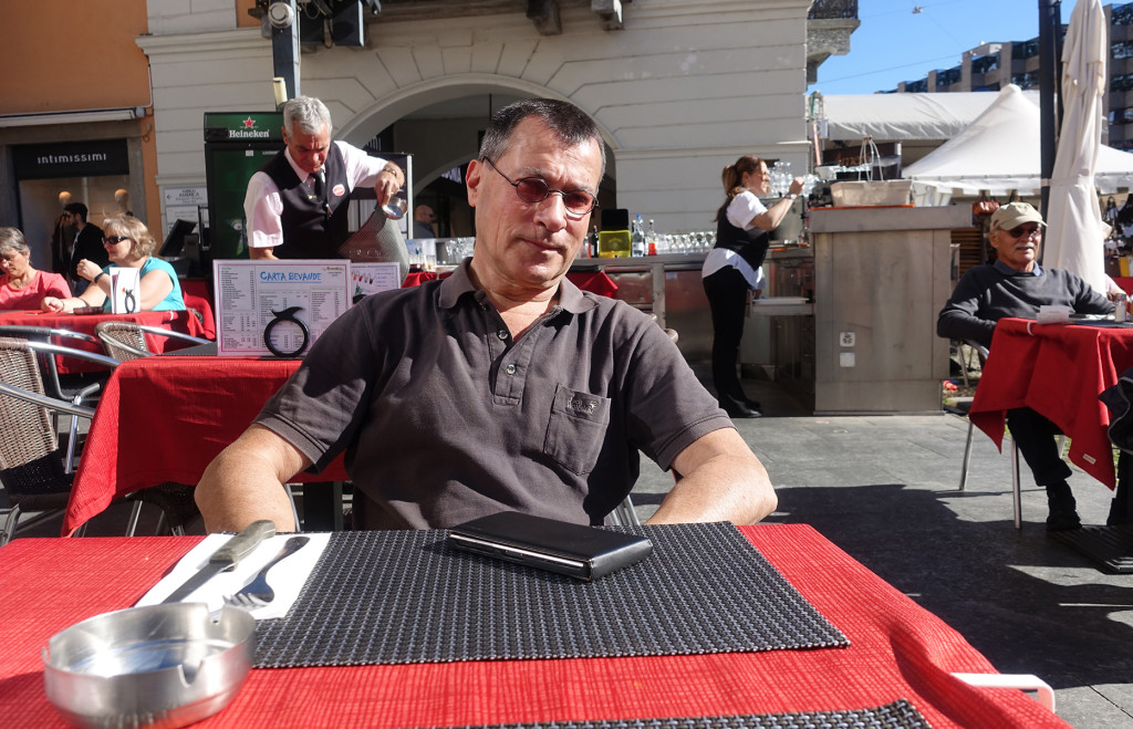 Im Restaurant an der Piazza Grande