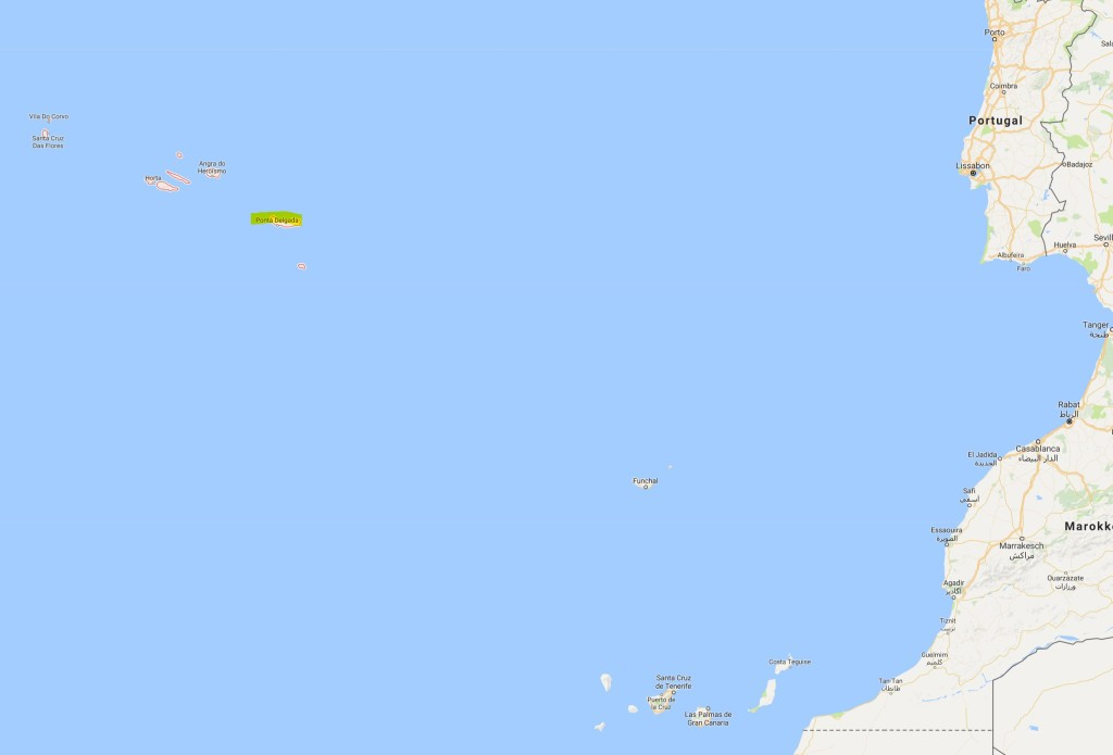 Azoren [Quelle: google.maps]