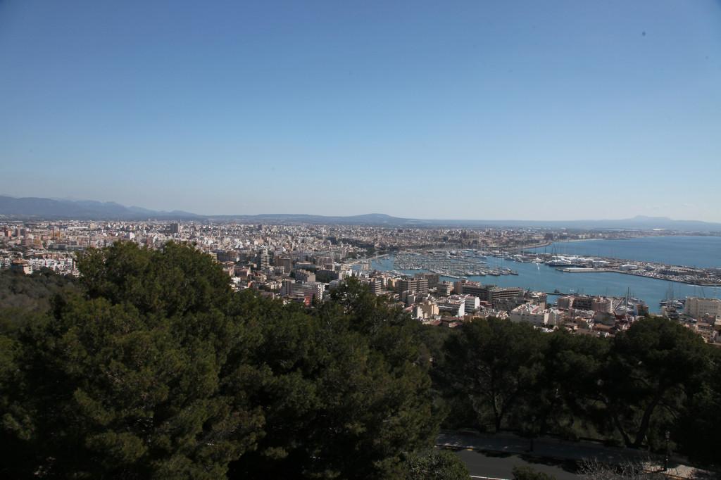 Castell de Bellver - Blick auf Palma