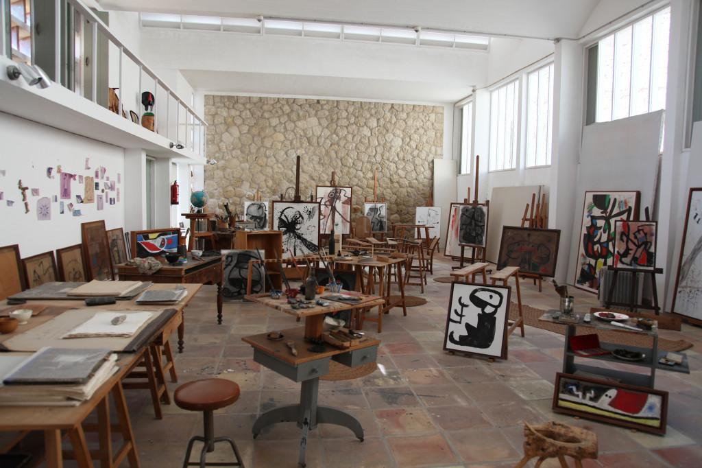 Fundació Miró - Blick in das Atelier