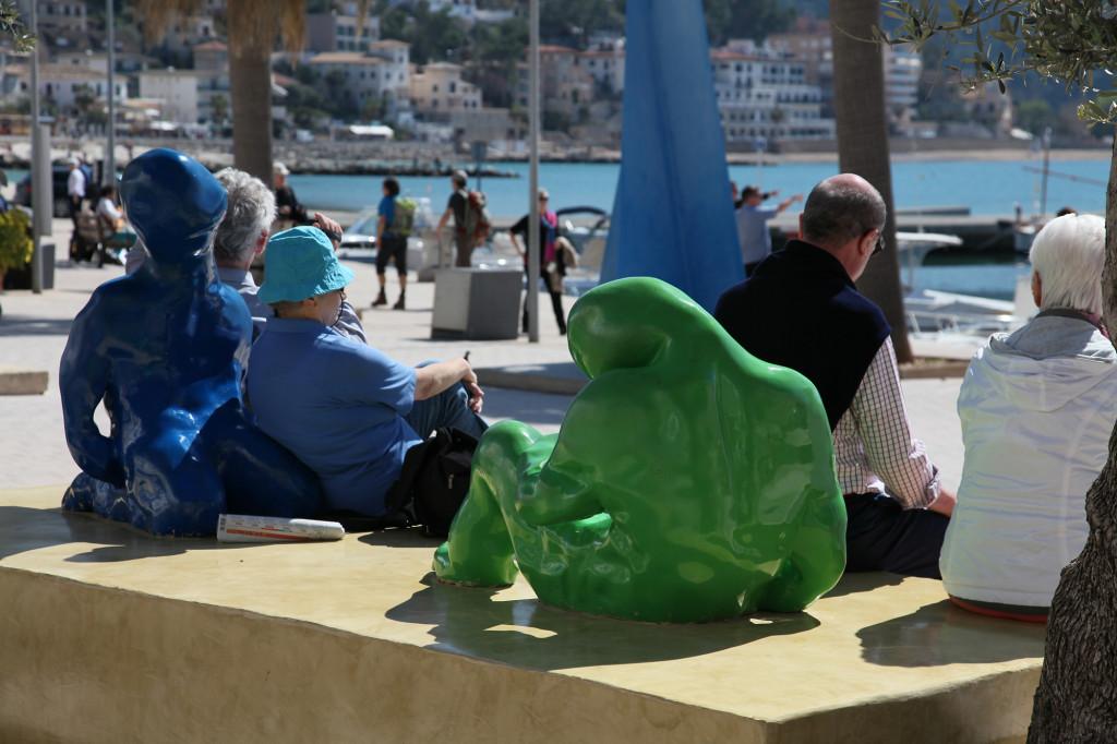 Port Sóller - Blau und Blau gesellt sich gern