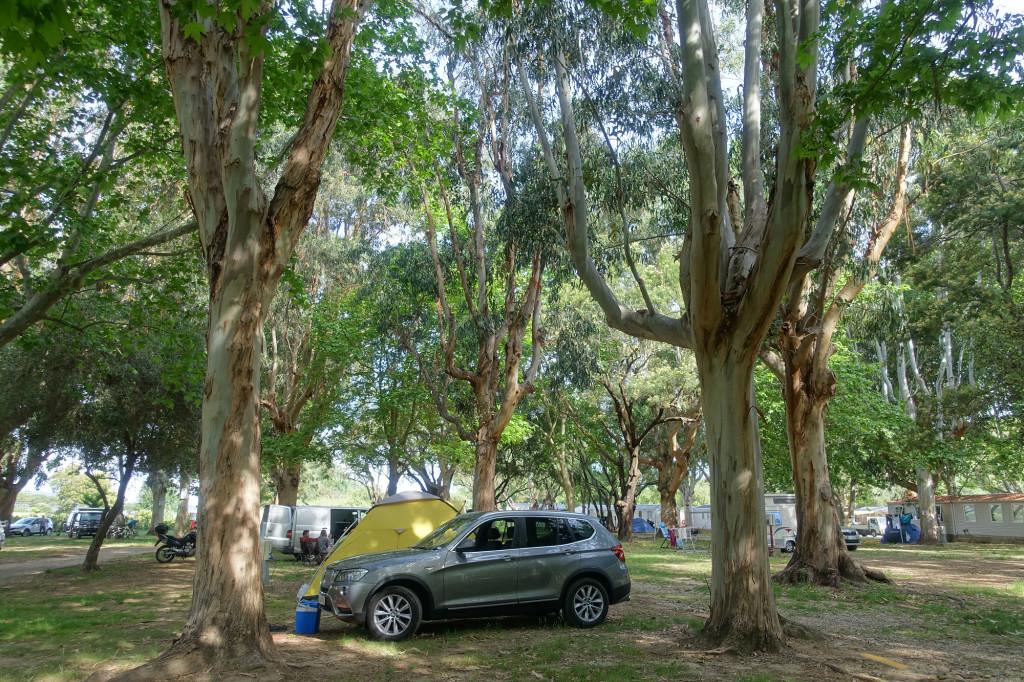 Unser Stellplatz auf dem Camping d' Olzo