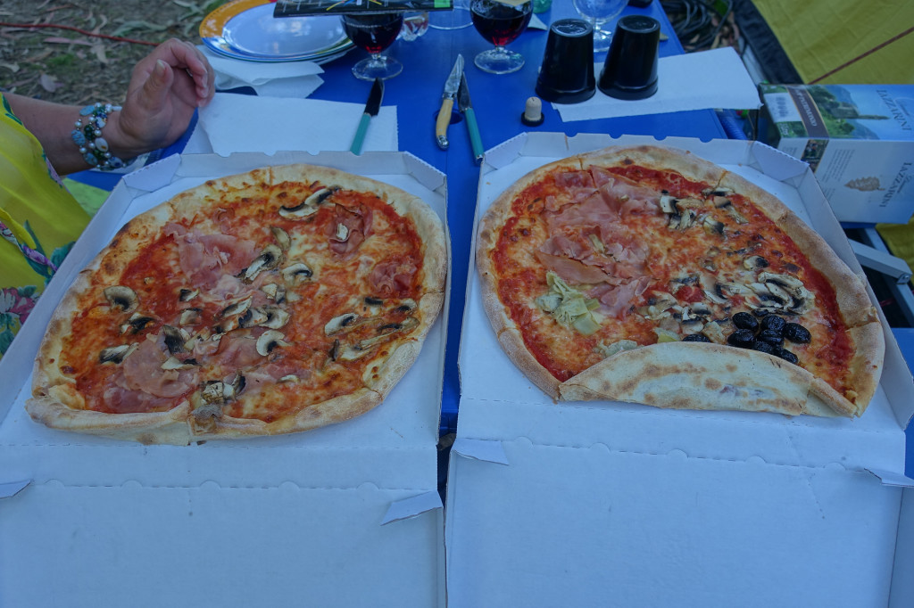 Pizza am Camping d' Olzo