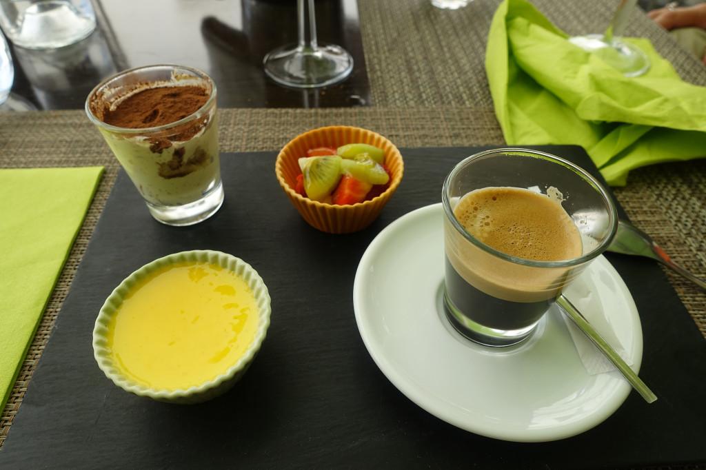 "Ein ""Café Gourmand"" im Restaurant ""Le Bosco"""