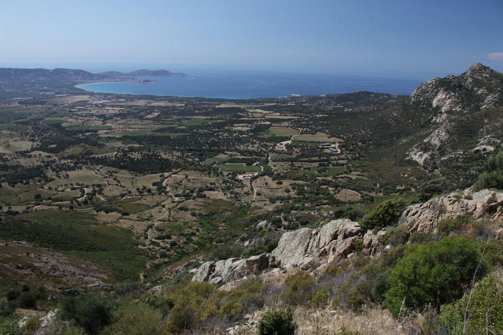 Blick in Richtung des Golfs von Calvi
