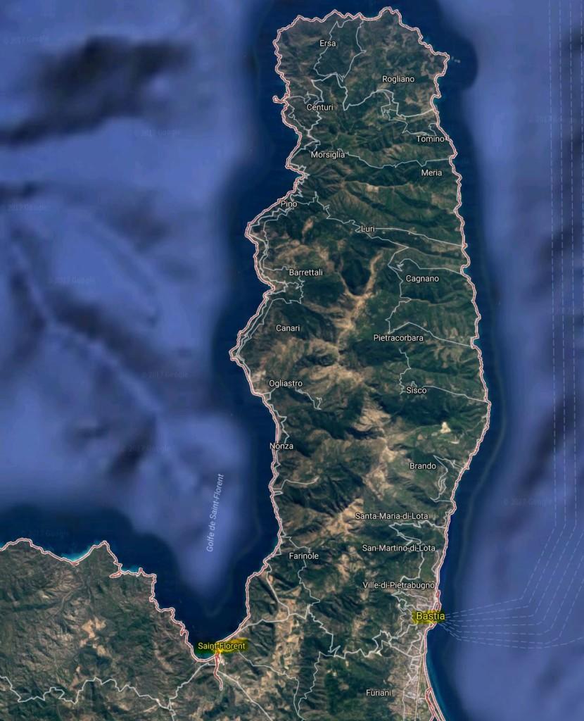 Cap Corse [Quelle: google maps]