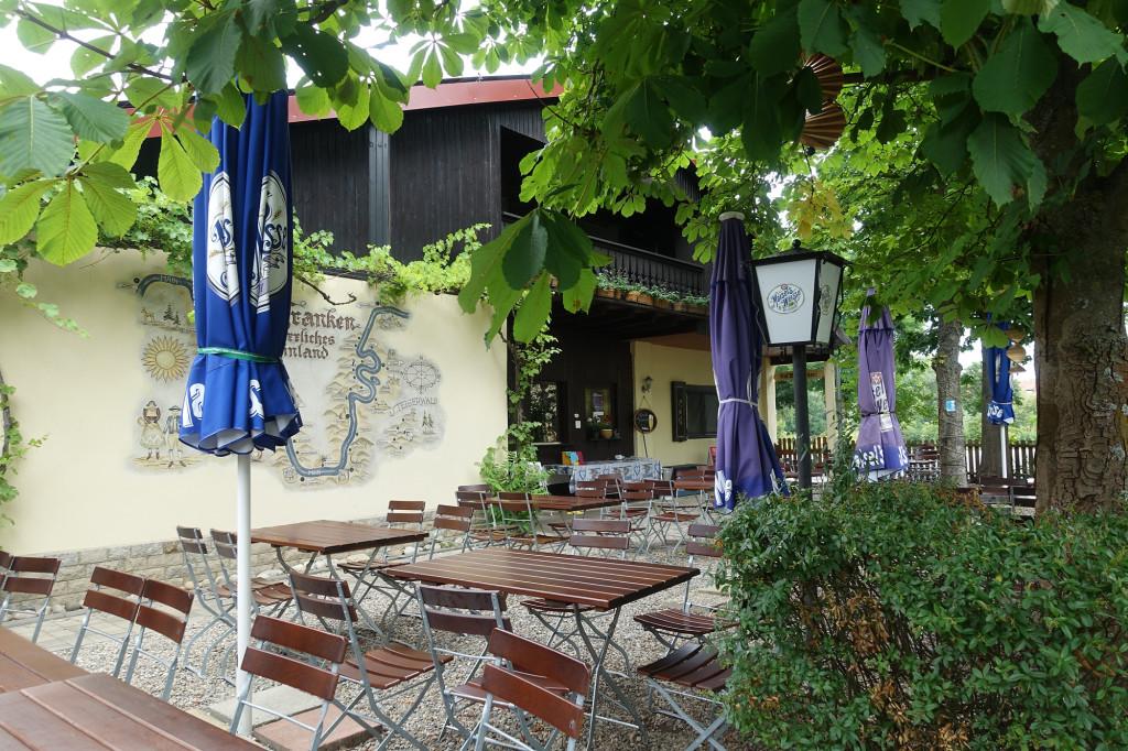Campingplatz Katzenkopf - so leer war das Restaurant allerdings Samstag Abend nicht ;-)
