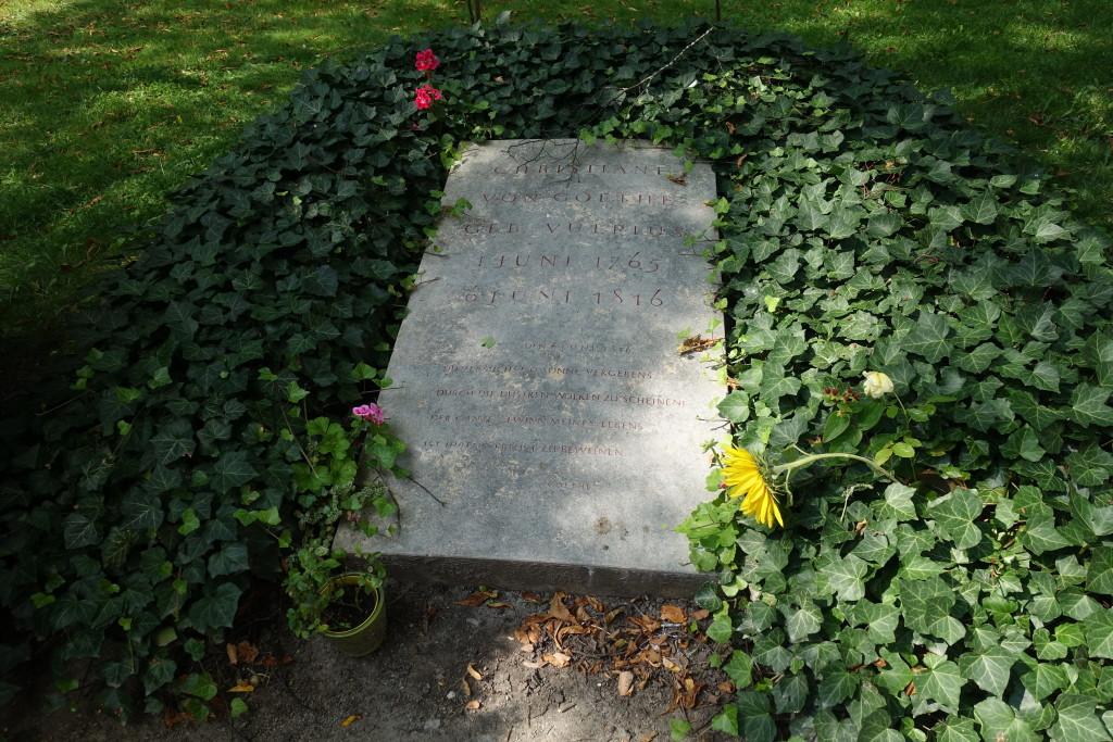 Jakobsfriedhof - Grab der Christiane Vulpius