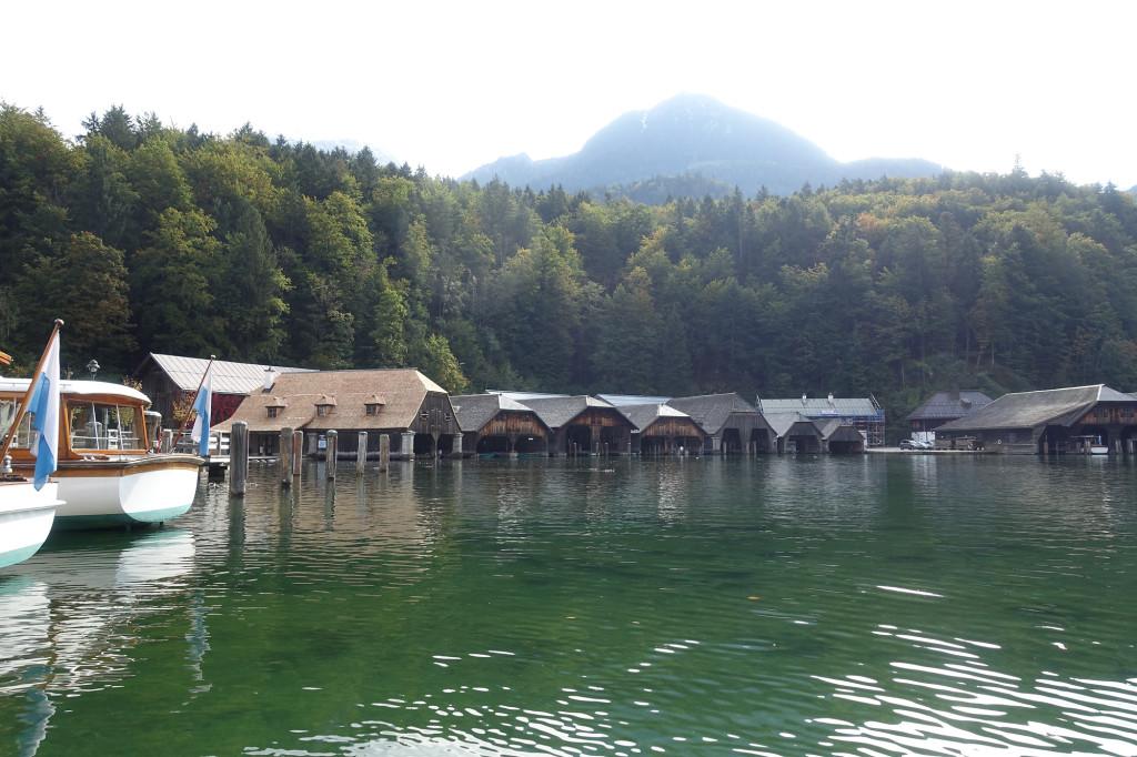 Bootsgaragen an der Seelände Königssee