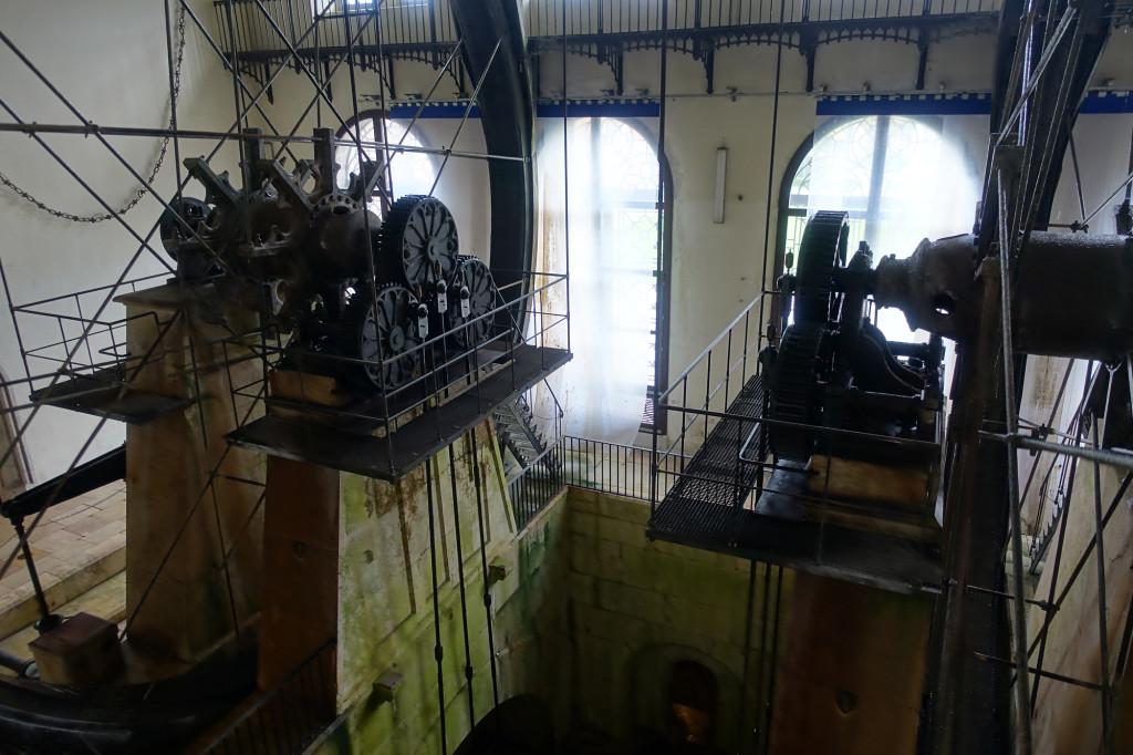 Alte Saline - Wasserräder im Hauptbrunnhaus