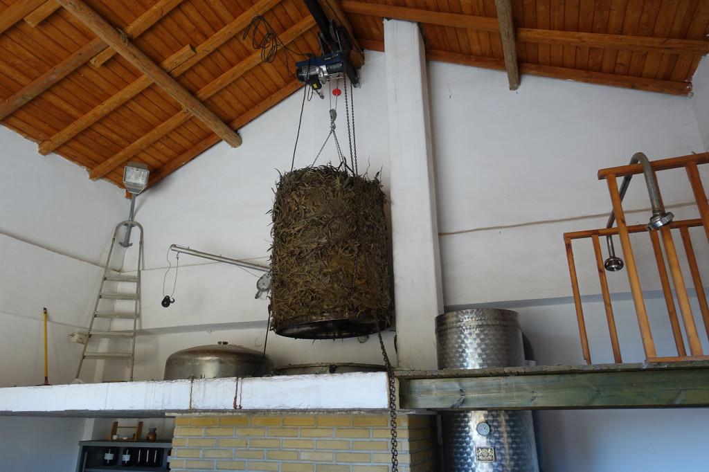 Destillerie, in der Bio-Öle hergestellt werden