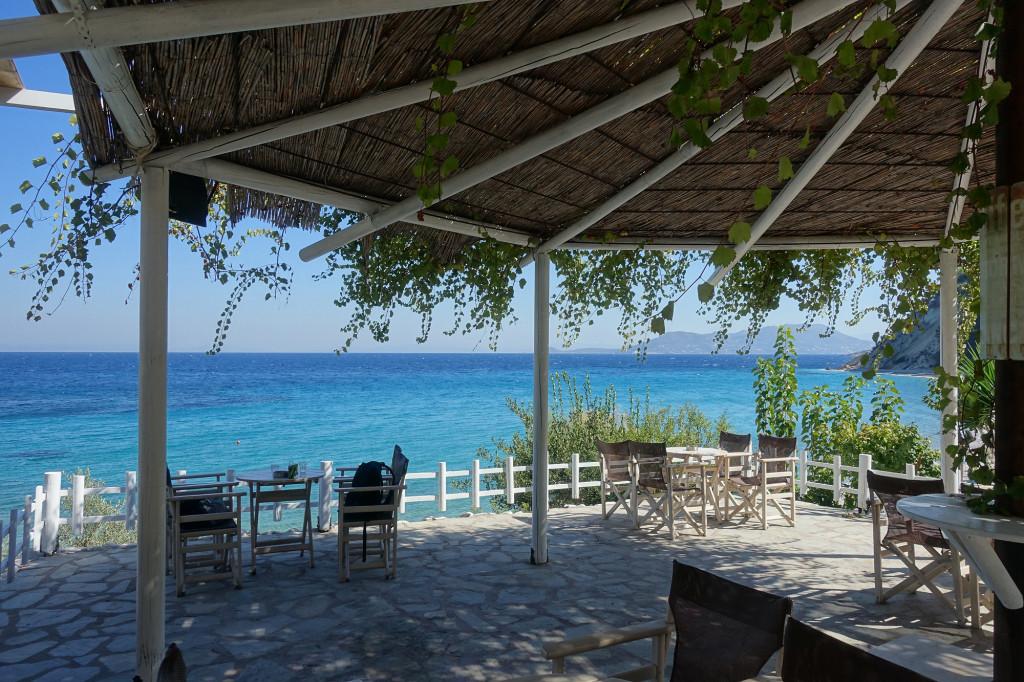Tsamadou-Strand - Taverne Navagos Beach