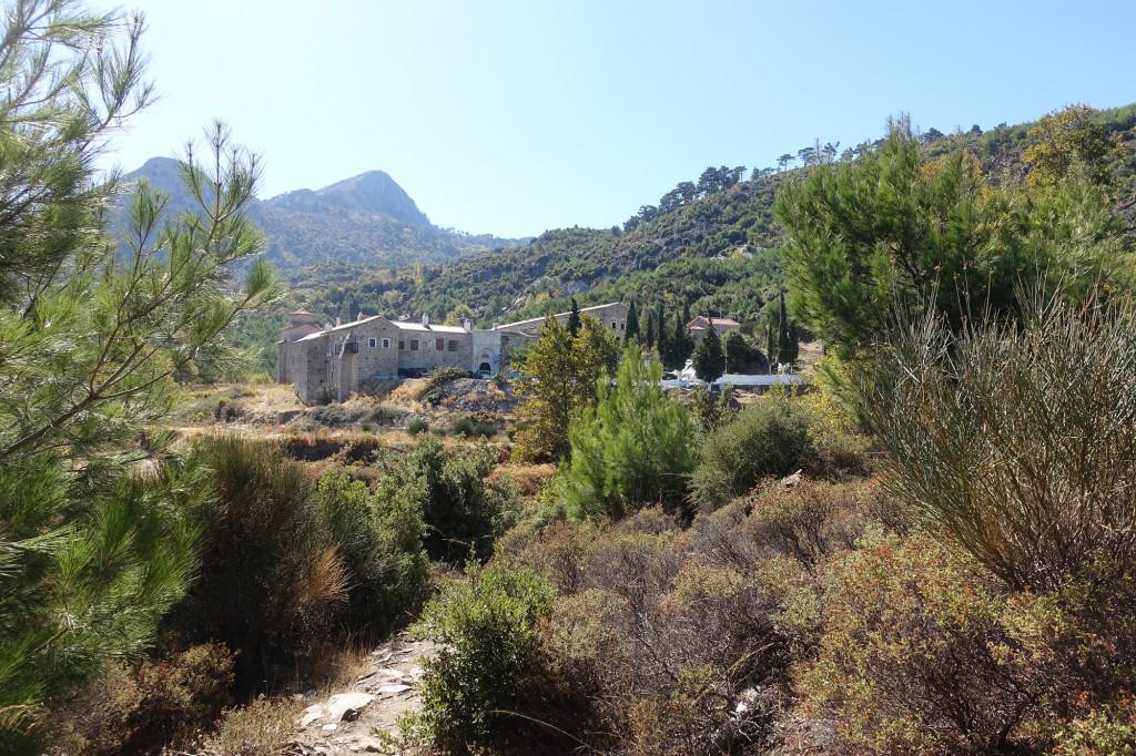 Unser Ziel, das Kloster Vronda