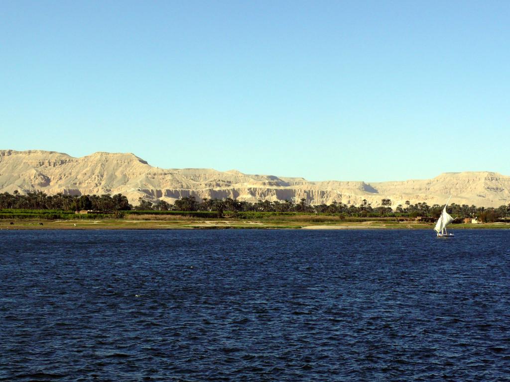 Nil - Blick in Richtung Tag der Könige