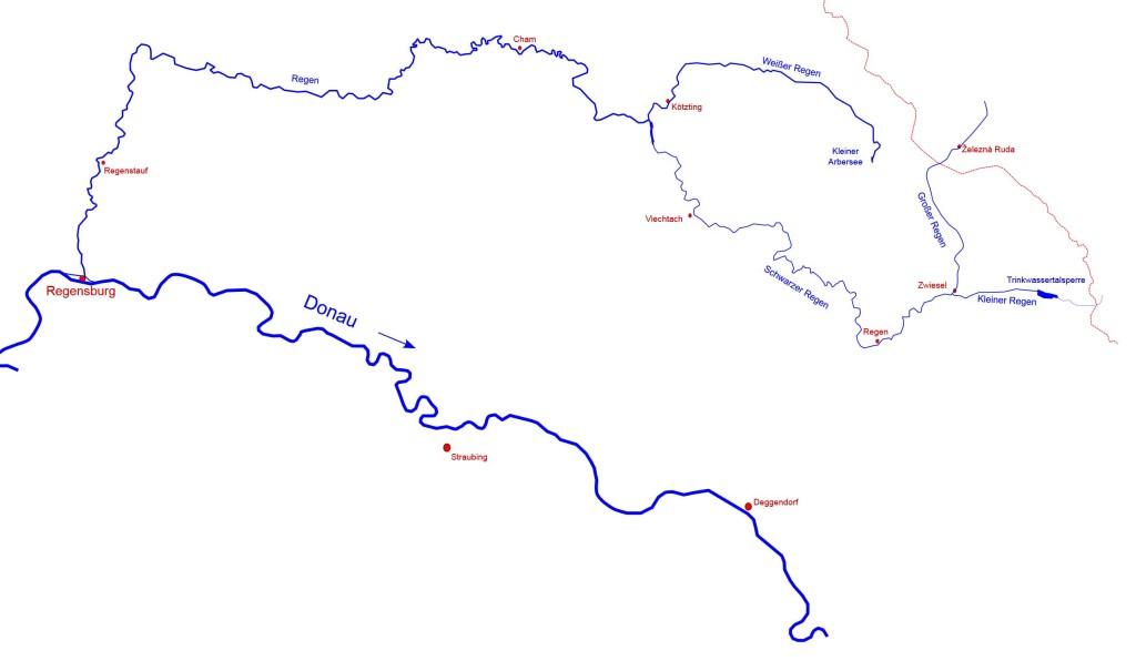 Jetzt wird auch klar, weshalb Regensburg an der Donau so heißt, wie es heißt