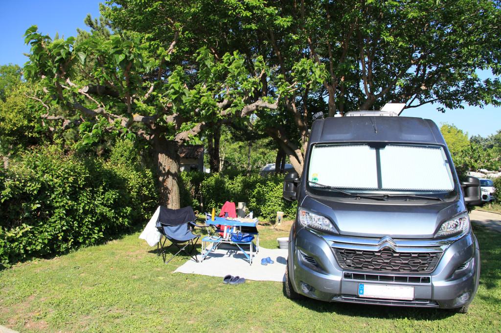 Maussane-les-Alpilles - unser Stellplatz auf dem Camping Les Romarins