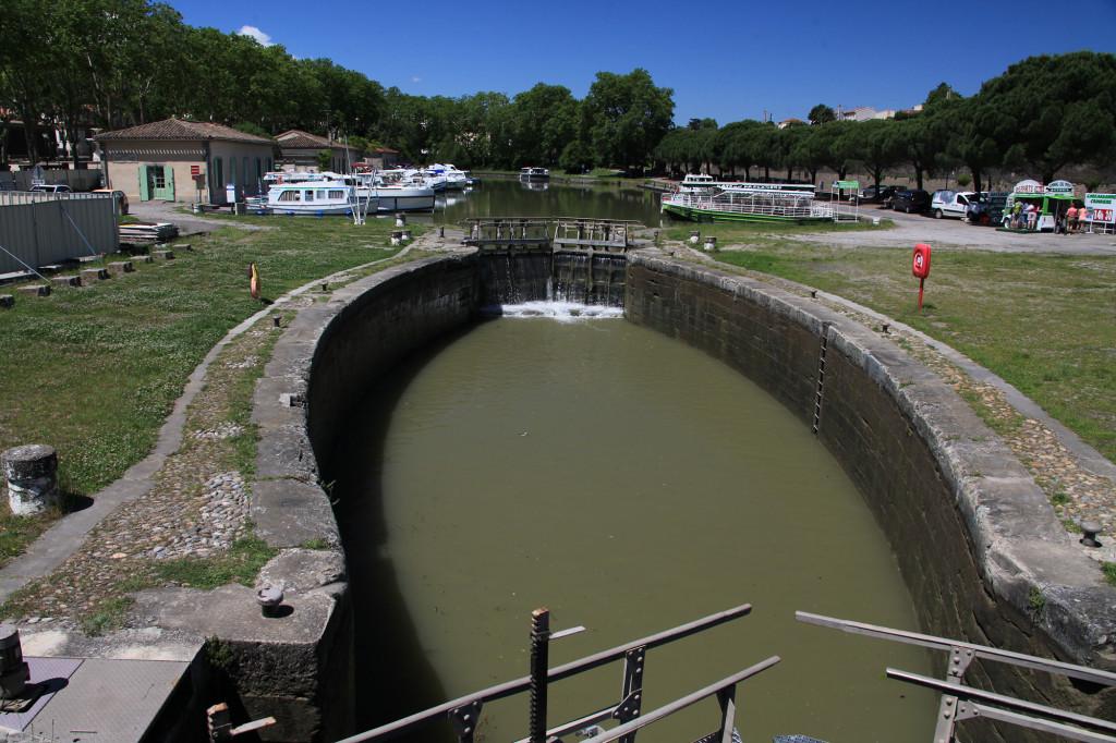 Carcassonne - Schleuse am Canal du Midi
