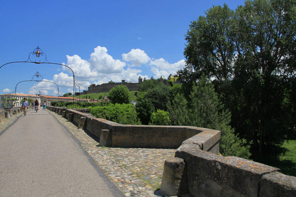 Carcassonne - Brücke über den Fluss Aude