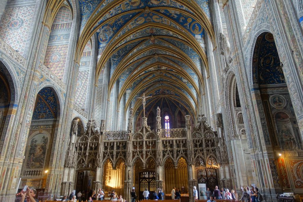 Albi - Kathedrale Sainte-Cécile - hinter dem Lettner befindet sich der Chorraum