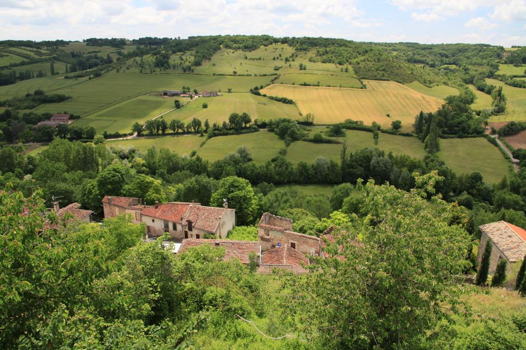 Cordes-sur-Ciel - Blick nach unten