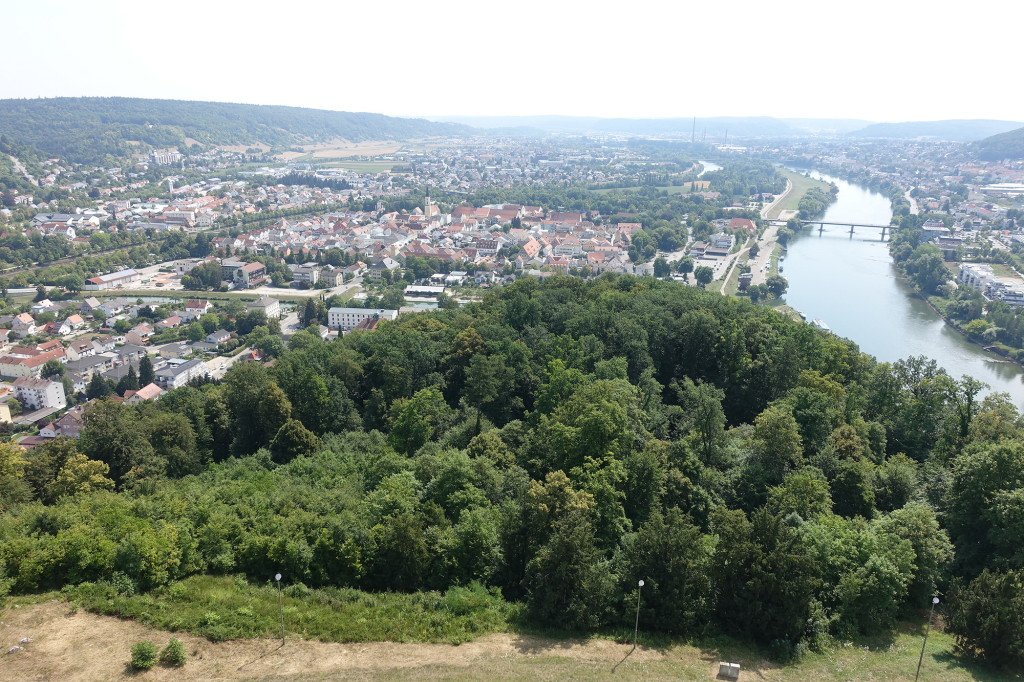 Befreiungshalle - Blick auf Kelheim