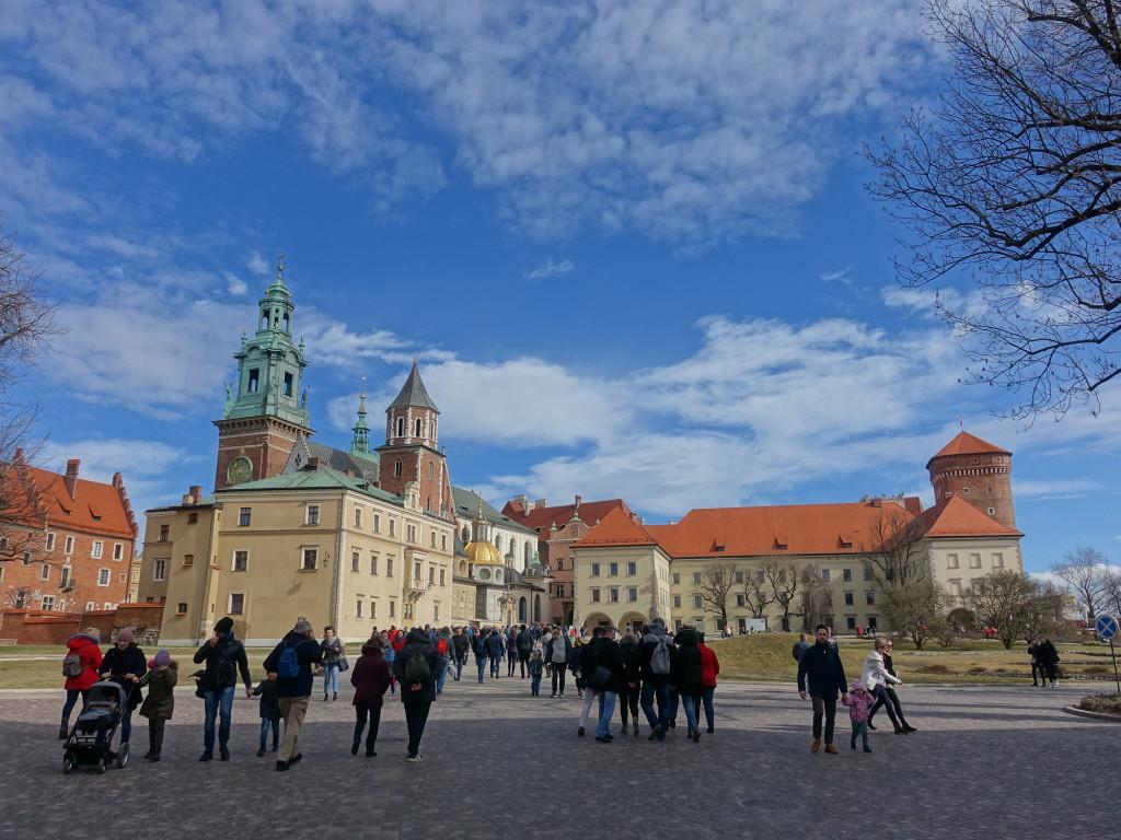 Wawel - Blick auf das Schloss und den Waweldom